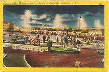 Miniature Golf Course On Boardwalk By Moonlight Wildwood NJ Postcard