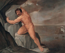 Oil painting Salome Guido Reni Nude strong man Polyphemus Cyclops holding stones