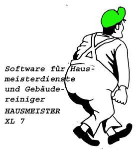 Software Hausmeister XL 7 Hausmeistersoftware Hausmeisterprogramm GoBD-Konform