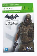 Batman Arkham Origins Bane's Forces Online Vanity DLC Card Xbox 360 *BRAND NEW*