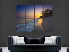 TROPICAL PARADISE PENANG BEACH SEA SUN WALL POSTER ART PICTURE PRINT LARGE