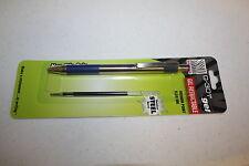 Zebra G301 Gel Retractable Medium Point Blue Roller Ball Pen G-301 Silver refill