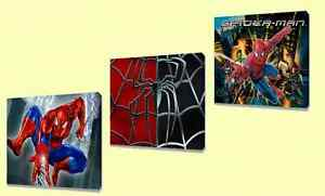 Spiderman Kids canvas wall art plaque pictures set of three pack II
