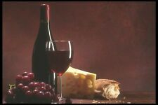 157097 Red Wine And Swiss Cheese Platter A4 Photo Print