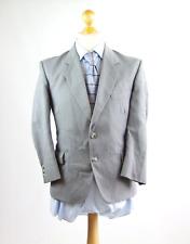 Trefor Jones Mens Grey Striped Wool Suit Jacket 38 (Regular)