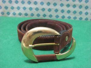 Vintage -  anni 90 Cintura Uomo vera pelle , Cm 106x3  fibia compresa - 6