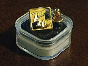 7up RC Cola Vintage 5 Year Golden Employee Pin VG In Case