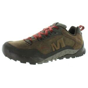 Merrell Mens Brown Leather Walking Shoes Sneakers 11 Medium (D) BHFO 7574