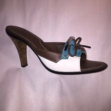 pre-loved authentic TOD's size 10 lady's stilleto MULE sandals $699 NEAR MINT!!