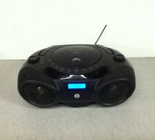 Memorex AM/FM  Portable CD Boombox MP3851BLK No AC Power Cord Broken Antenna