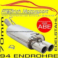 FRIEDRICH MOTORSPORT V2A SPORTAUSPUFF 70MM BMW 535i 540i Limo E39