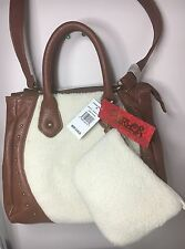 Carlos By Carlos Santana Quincy Satchel Crossbody Cognac/Cream  Bag  $108.00