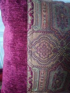 "Vintage Laura Ashley Tamarind burgundy 17""x17 patchwork cushion covers"