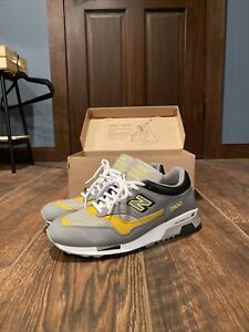 New Balance M1500GGY / Grey & Yellow Made In England Men Sz 10