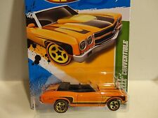 2012 Hot Wheels Treasure Hunt #65 Orange '70 Chevy Chevelle Convertible