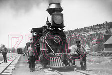 Rio Grande Southern (RGS) Engine 20 with Crew at Dolores in 1906 - 8x10 Photo