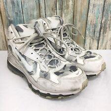 Nike Air Max Terra Sertig Mens 9.5 Gray White Camo Camouflage Trail Hiking Shoes