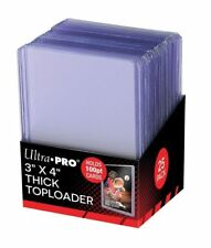 Pack of (25) ~ Ultra Pro Thick Rigid Clear Top Loaders Pack ~ 100pt ~ New!