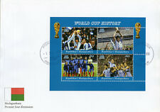 Madagascar 2018 FDC Football World Cup France Maradona 4v M/S Cover III Stamps