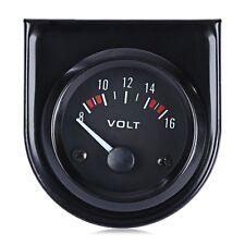 12V Boat Auto Car 2 Inch 52mm Voltmeter Volt Voltage Meter Gauge LED Black Face