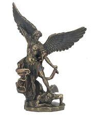 "8"" Archangel Michael on Demon Statue Figurine Figure San Saint Angel Miguel"