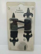Black Antique Door Handles LUDLOW FOUNDRIES LF5505 FLEUR DE LYS DOOR HANDLE (T2)