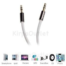 1M White 3.5mm Jack Plug Aux Cable Audio Lead For to Headphone MP3 iPod PC Car