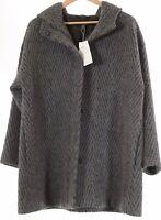 Eileen Fisher NWT Hooded Coat Size Medium in Ash Grey $738
