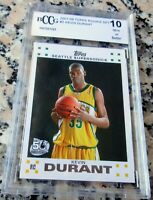 KEVIN DURANT 2007 Topps #1 Draft Pick Rookie Card RC BGS BCCG 10 MVP Warriors $