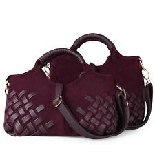 Women Suede Split Leather Handbag Female Casual Shoulder Bag Tote Bag Handbag