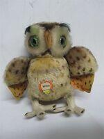 "VINTAGE STEIFF GERMANY 8 1/4"" MOHAIR ""WITTIE"" OWL"
