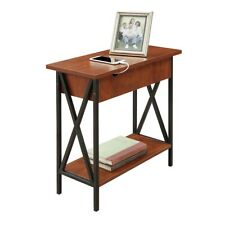 Convenience Concepts Tucson Electric Flip Top Table, Black/Cherry - 161859
