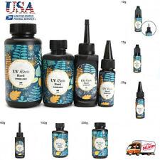 10/15/25/60/100/200g UV Resin Hard Glue Ultraviolet Transparent LED DIY Tool US