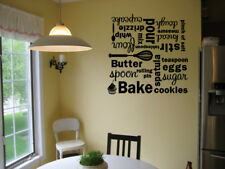 KITCHEN BAKE COLLAGE SUBWAY ART VINYL WALL DECAL LETTERING WORDS STICKER QUOTE