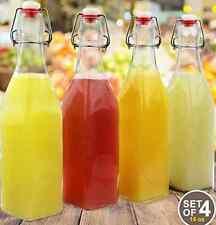 Glass Beer Bottles Swing Top Easy Cap Home Brew Empty Juices Water Party Drinks
