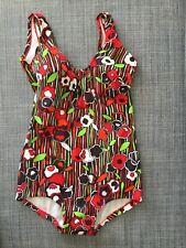 Women's Vintage 60s Mod GoGo Rockabilly Floral 1p Swimsuit S