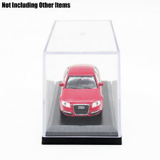 Acrylic&Plastic Display Box Clear Perspex Case Black Base Dustproof Protection