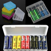 For AA AAA 18650 Battery Batteries Storage White Case Holder Hard PP Box Manage