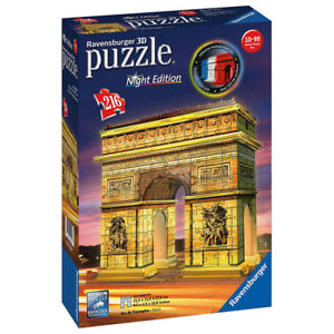 Ravensburger Arc de Triomphe NIGHT EDITION 3D Jigsaw Puzzle (216 Piece) NEW