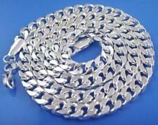 """Retro 925 Silver Sterling 8mm Cool Choker Curb Chain Collar Necklace 22"""" for Men"""