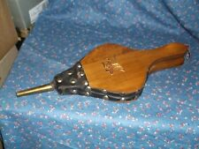 "Vintage Wood Metal Leather Bellows Americana Eagle Design Works 15"" Long"