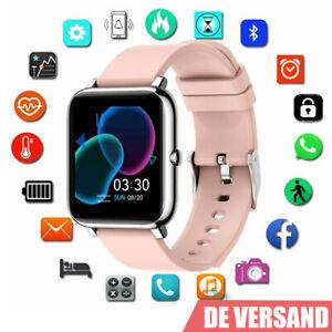 Damen Smart Uhr Wasserdichte Smartwatch Herz Rate Fitness Tracker Android IOS