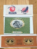 JEWELO Vintage Inner Cigar Box Label-Super Smoke-Page Valley Heavy Pack Apples
