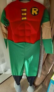 BOYS SIZE 8-9 YEARS ROBIN COSTUME GOOD CONDITION