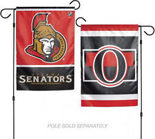 "Ottowa Senators NHL Garden Flag Double Sided Licensed 12"" x 18"""