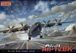 Roden 048 1:72nd Antonov An-12 Civil An-12BK The main Soviet transport aircraft