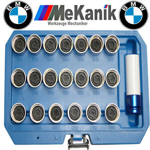 21pc BMW Anti Theft Locking Wheel Nut Stud Remover Tool Kit
