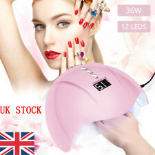 36W 12Leds Nail Lamp UV Nail Gel Dryer Curing Polish Manicure Machine USB Charge