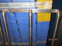 2 Stk. Edelstahl Gestell Halterung Wandhalterung - div. Verwendungsmöglichkeiten