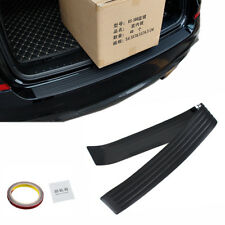 Black JDM Rear Bumper Rubber Pad Kit Guard Sill Plate Trunk Protector Trim Cover